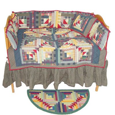Patch Magic Wild Goose Log Cabin Crib Bedding Collection