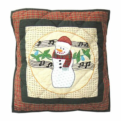 Patch Magic Jolly Snowmen Toss Pillow
