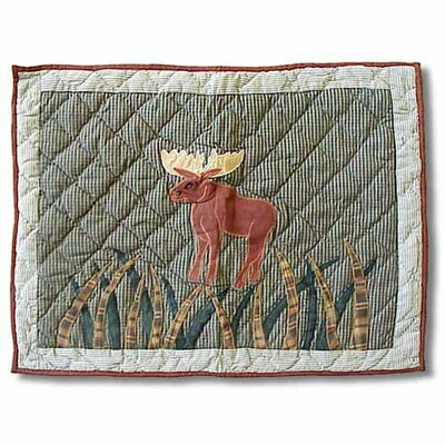 Patch Magic Moose Standard Pillow Sham with Moose Design
