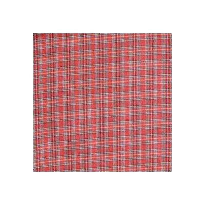 Patch Magic Red Plaid and Green Black Lines Bed Curtain