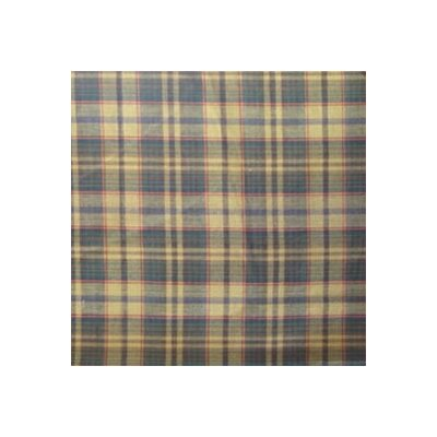 Golden Brown Plaid Bed Curtain