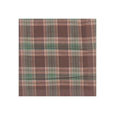 Brown and Green Plaid Window Curtain