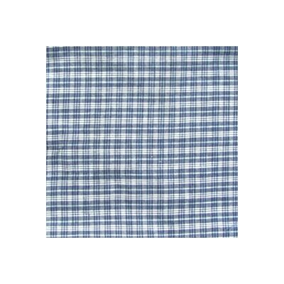 Blue and White Plaid Pillow Sham