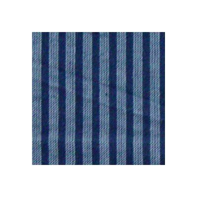Patch Magic Blue and Horizontal White Stripes Pillow Sham