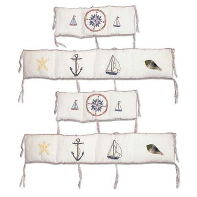 Nautical 4 Piece Bumper Pad Set