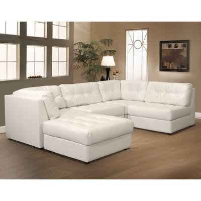 Contemporary Bonded Leather Sectional Wayfair