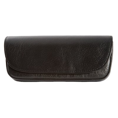 Dr. Koffer Fine Leather Accessories Leather Eyeglass Case with Belt Loop