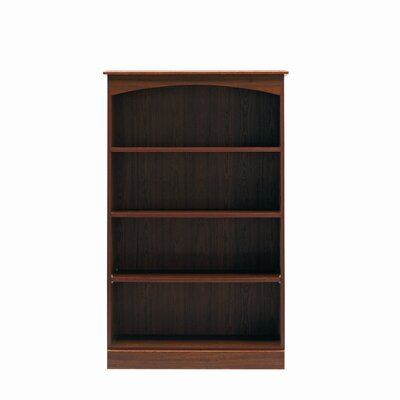 Caxton Byron Medium Height Wide Bookcase in Mahogany