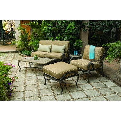 Woodard Landgrave Old Gate Deep Seating Group with Cushions