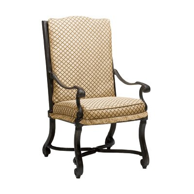 Woodard Landgrave Villa Small Dining Arm Chair with Cushion