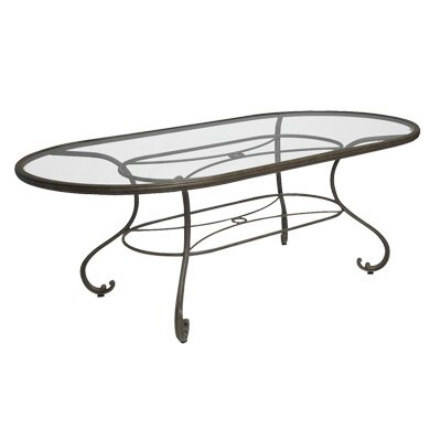 Woodard Landgrave Old Gate Oval Umbrella Dining Table