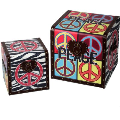 Style Craft 2 Piece Peace Trunk Set