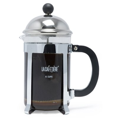 La Cafetiere Optima 6 Cup Cafetiere in Chrome