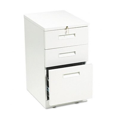 Maxon Freestanding Letter-Size Pedestal File with Two Box and One File Drawer in Gray
