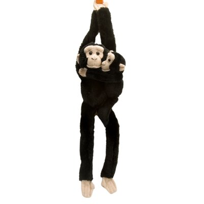 Hanging Chimp with Baby Stuffed Animal