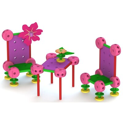 Superstructs Pinklets Fairy Garden Building 110 Piece Set