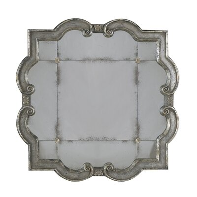 Prisca Small Antique Wall Mirror in Distressed Silver Leaf