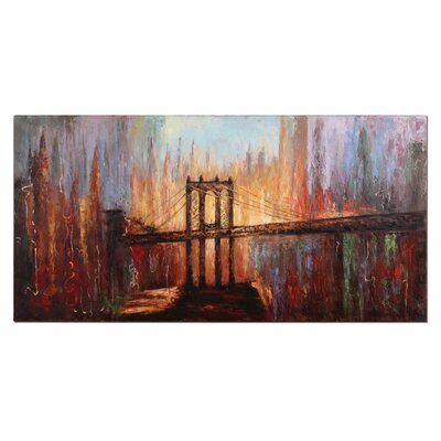 Colorful Skyline View Wall Art
