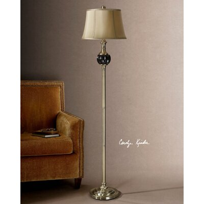 Uttermost Varallo One Light Floor Lamp in Distressed Reddish Brown