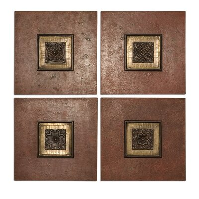 "Uttermost Golovin Squares Wall Art by Billy Moon - 16"" X 16"" (Set of 4)"