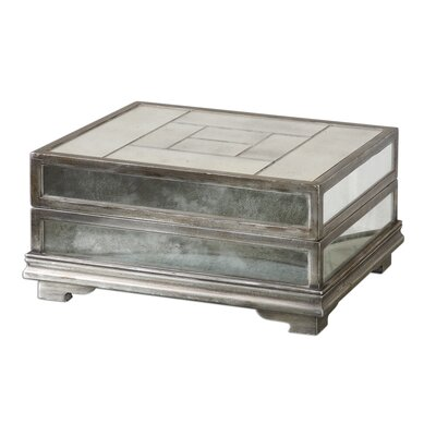Uttermost Trory Box in Antique Silver