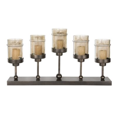 Uttermost Lamya Iron and Glass Transparent Candlestick