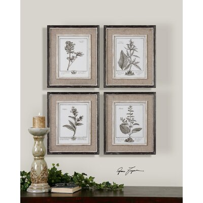 "Uttermost Casual Grey Study Wall Art By Grace Feyock - 17.5"" x 14.5"" (Set of 4)"