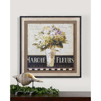 "Uttermost Marche De Fleurs Wall Art By Grace Feyock - 35.625"" x 35.625"""