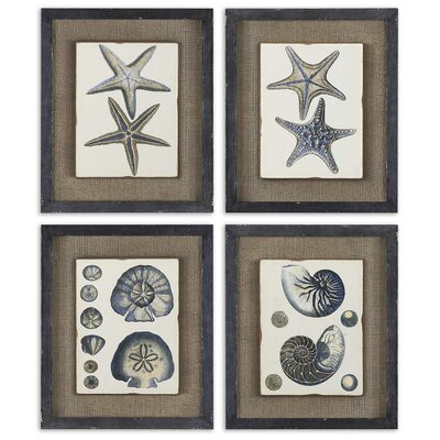 4 Piece Coastal Blue by Grace Feyock Wall Art Set - 18