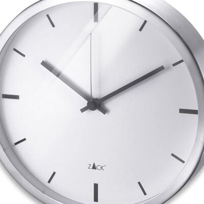 ZACK Durata Round Quartz Wall Clock in White