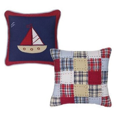 Bacati Boys Stripes and Plaids Set of Two Decorative Pillows