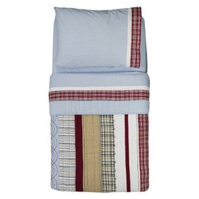 Boys Stripes and Plaids 4 Piece Toddler Bedding Set