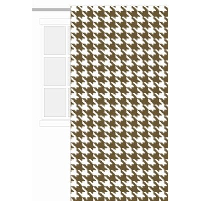 Bacati Metro Curtain Panel Houndstooth in White and Chocolate