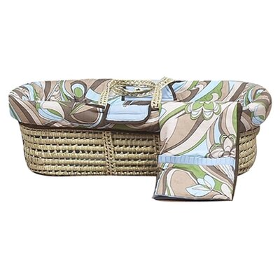Bacati Retro Flowers Moses Basket
