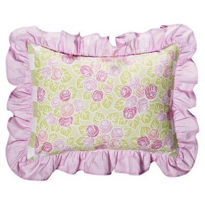 Bacati Flower Basket Decorative Pillow