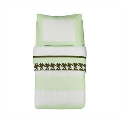 Bacati Metro Lime, White and Chocolate Toddler Bedding Collection