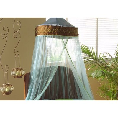 "Bacati Botanika Brown, Blue and Lime Bed Canopy 96"" Drop"