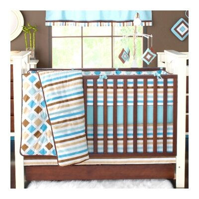 Bacati Mod Diamonds and Stripes 10 Piece Crib Bedding Set