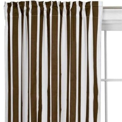 Bacati Stripes Cotton Rod Pocket Curtain Single Panel