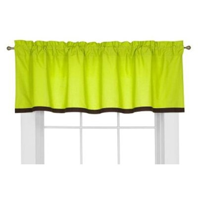 Bacati Valley of Flowers Cotton Rod Pocket Tailored Curtain Valance