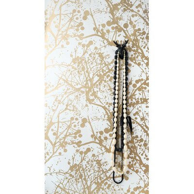 ferm LIVING Wilderness Wallsmart Wallpaper in White / Gold