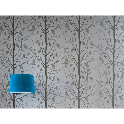 ferm LIVING Family Tree Wallsmart Wallpaper in Silver