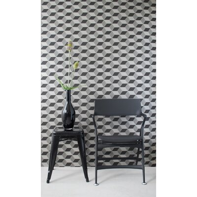 ferm LIVING Squares Wallsmart Wallpaper in Black / Bronze