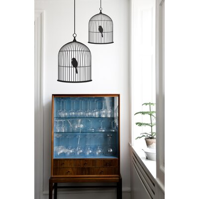 ferm LIVING Small Birdcage Wall Sticker