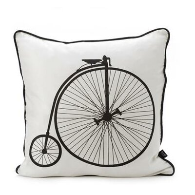 ferm LIVING Velo Silk Pillow in Black