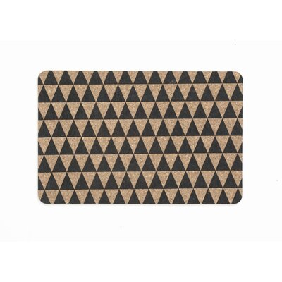 ferm LIVING Triangle Cork Dinner Mat (Set of 2)
