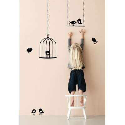 ferm LIVING Tweeting Birds Wall Sticker