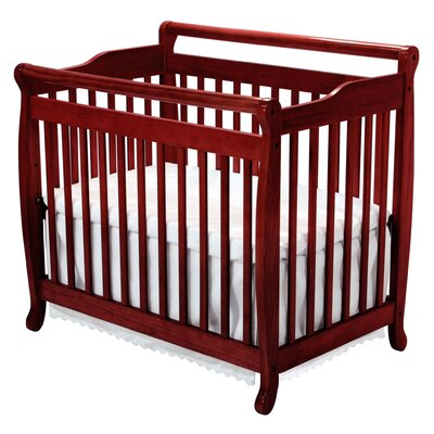 DaVinci Emily Mini 2-in-1 Convertible Crib in Ebony Black