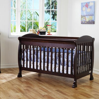 DaVinci Jacob 4-in-1 Convertible Crib with Toddler Rails in Espresso