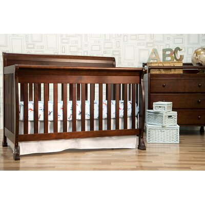 DaVinci Kalani 4-in-1 Convertible Crib with Toddler Rail in Honey Oak